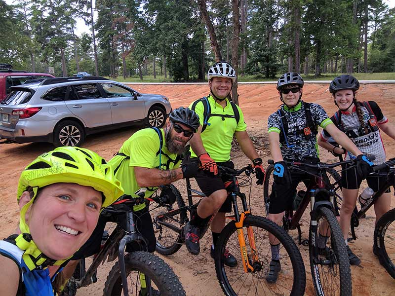 Group of Mountainbikers